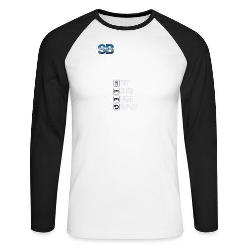 Eat Sleep Game Repeat - Langærmet herre-baseballshirt
