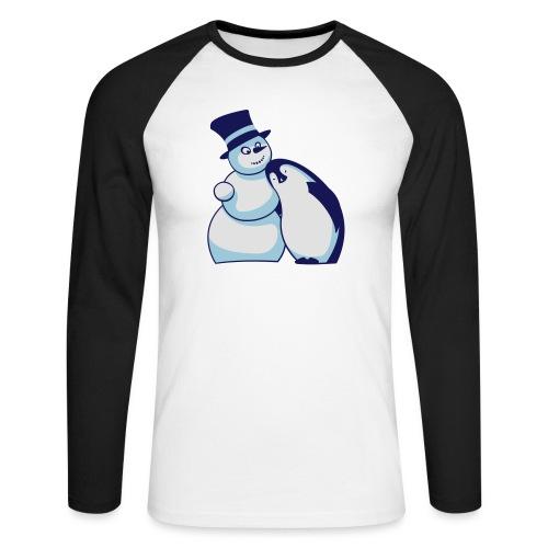 Schneemann und Pinguin - Männer Baseballshirt langarm