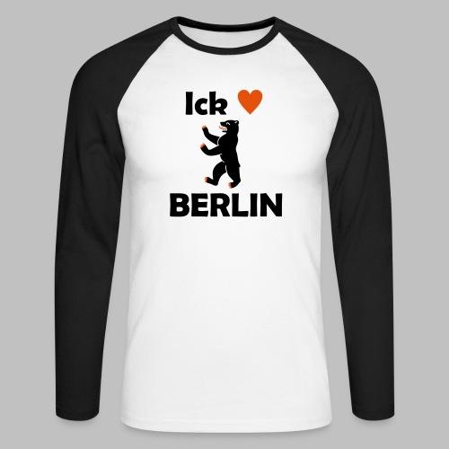 Ick liebe ❤ Berlin - Männer Baseballshirt langarm