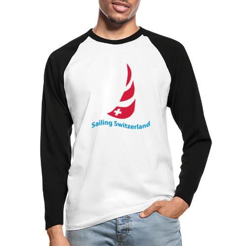 logo sailing switzerland - Männer Baseballshirt langarm