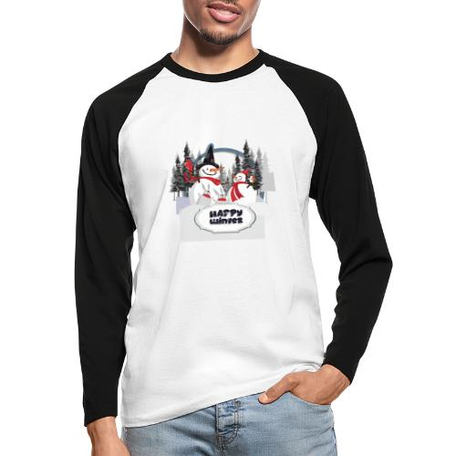 happy winter - T-shirt baseball manches longues Homme