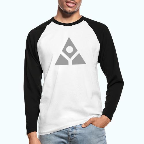 Sacred geometry gray pyramid circle in balance - Men's Long Sleeve Baseball T-Shirt