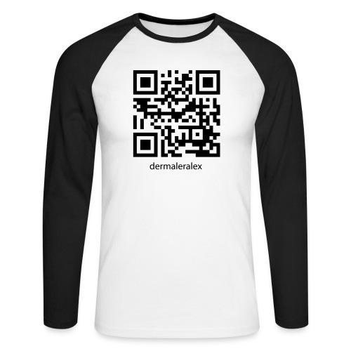 qrcode alex - Männer Baseballshirt langarm