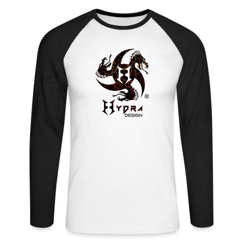 Hydra Design - logo Cracked lava - Maglia da baseball a manica lunga da uomo