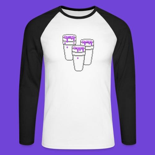 Purple - Maglia da baseball a manica lunga da uomo