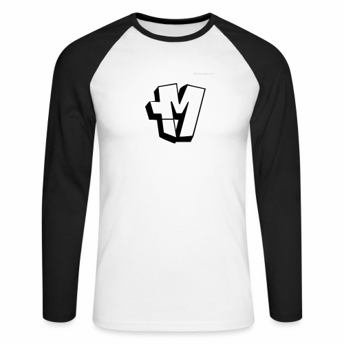 graffiti alphabet m - Men's Long Sleeve Baseball T-Shirt
