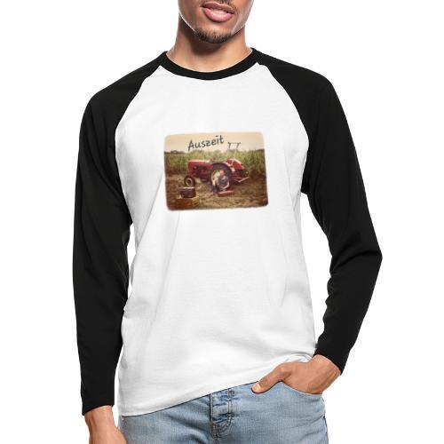 Auszeit - Männer Baseballshirt langarm