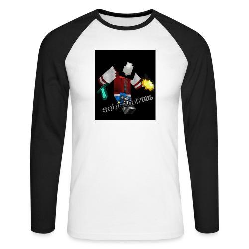 Sebastian yt - Langærmet herre-baseballshirt