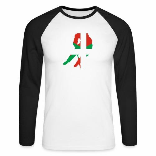 hockeyeur et basque - T-shirt baseball manches longues Homme