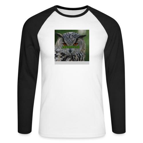 JohannesB lue - Langermet baseball-skjorte for menn