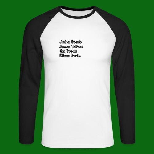 Glog names - Men's Long Sleeve Baseball T-Shirt