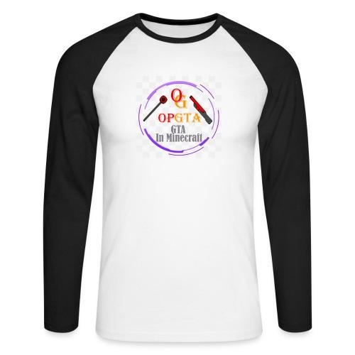opgta logo - Miesten pitkähihainen baseballpaita