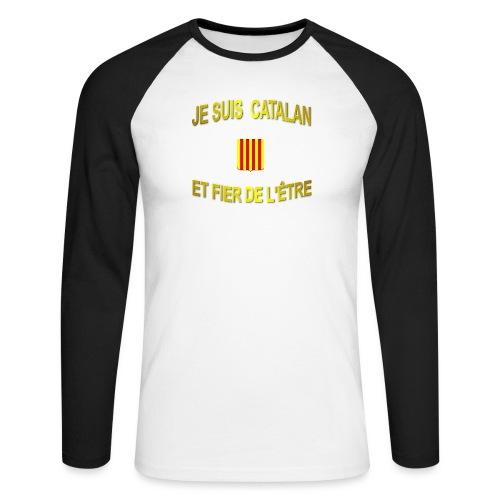 Tee-Shirt supporter du pays CATALAN - T-shirt baseball manches longues Homme