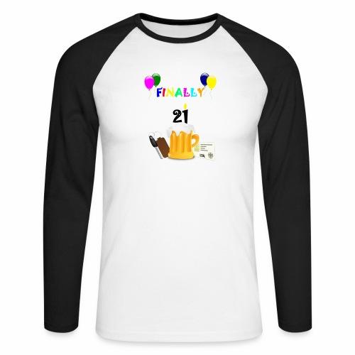 Finally 21 (2) - Men's Long Sleeve Baseball T-Shirt