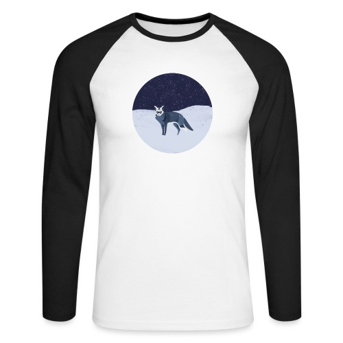 Blue fox - Miesten pitkähihainen baseballpaita