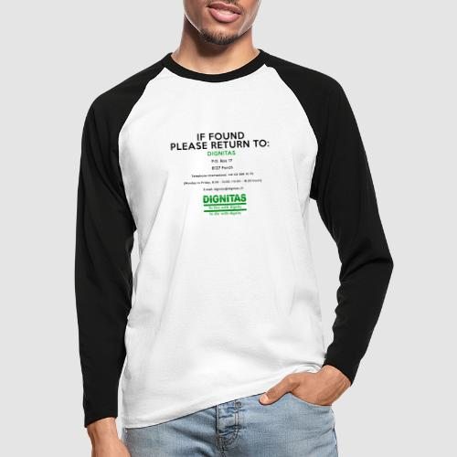 Dignitas - If found please return joke design - Men's Long Sleeve Baseball T-Shirt
