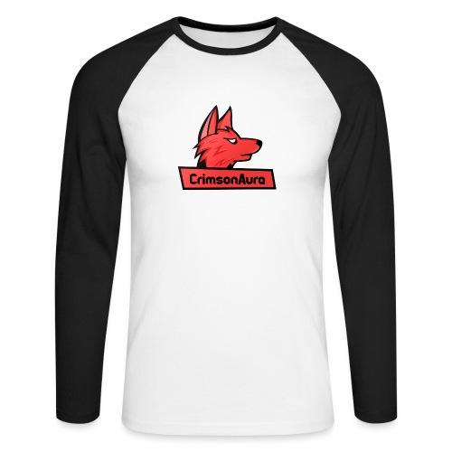 CrimsonAura Logo Merchandise - Men's Long Sleeve Baseball T-Shirt