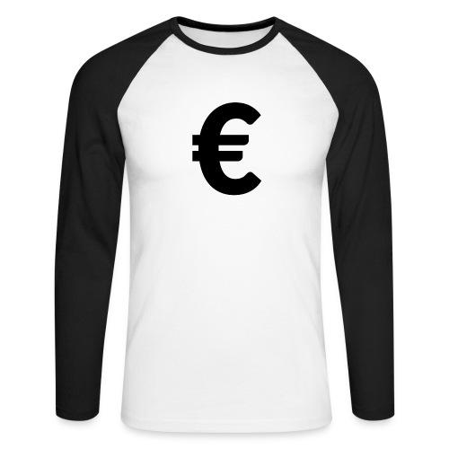 EuroBlack - T-shirt baseball manches longues Homme