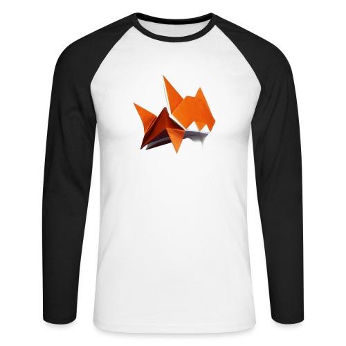 Jumping Cat Origami - Cat - Gato - Katze - Gatto - Men's Long Sleeve Baseball T-Shirt