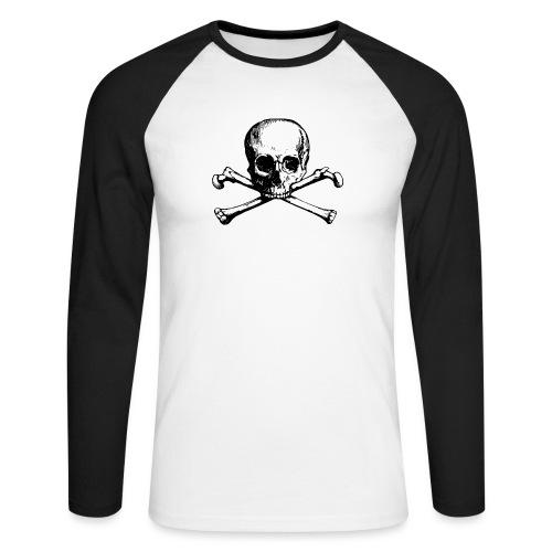 skull & blondes (white) - Männer Baseballshirt langarm