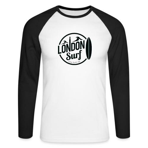 London Surf - Black - Men's Long Sleeve Baseball T-Shirt