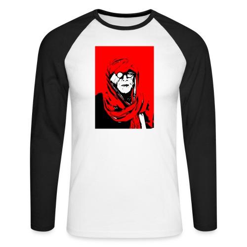 L'homme rouge représente la terre rouge d'Afrique. - T-shirt baseball manches longues Homme