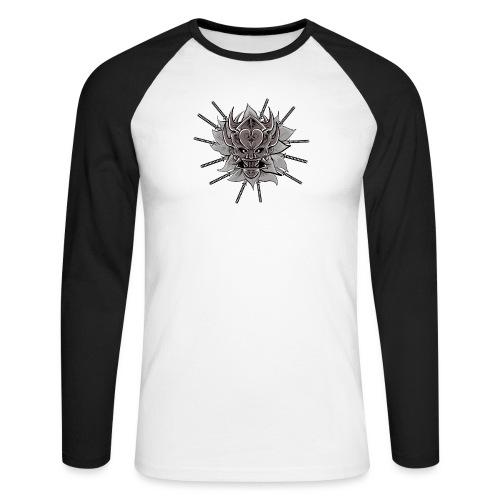Lotus Of The Samurai - Mannen baseballshirt lange mouw