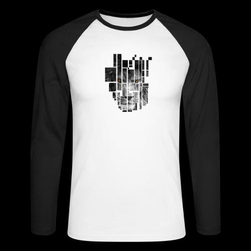 Pixel Lion Tattoo Inspire - Men's Long Sleeve Baseball T-Shirt