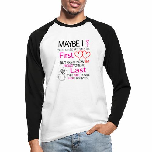 I love my husband - gift idea - Men's Long Sleeve Baseball T-Shirt