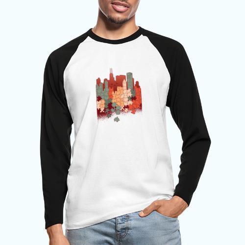 Puzzle fan - Men's Long Sleeve Baseball T-Shirt