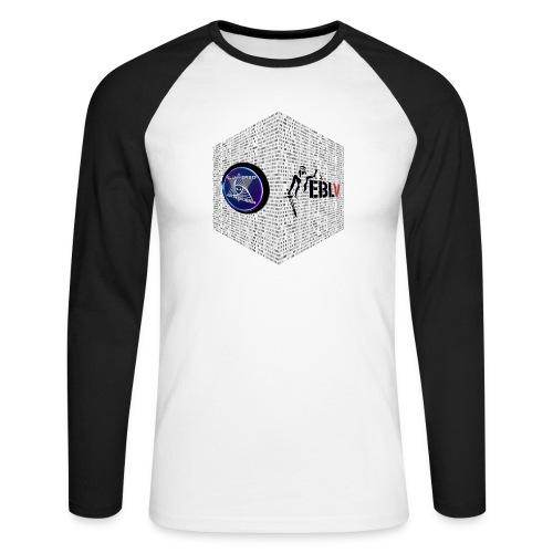 disen o dos canales cubo binario logos delante - Men's Long Sleeve Baseball T-Shirt