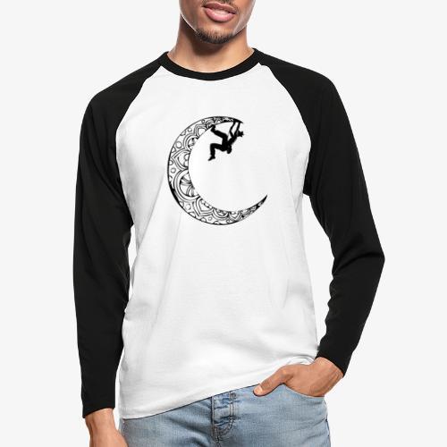 Escaladora en la luna - Woman climber in the moon - Men's Long Sleeve Baseball T-Shirt