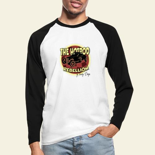 hotrod rebellion - Langærmet herre-baseballshirt