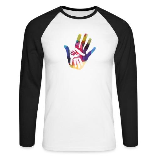 logo_storien - Langermet baseball-skjorte for menn