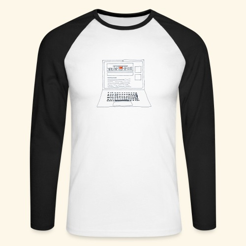 Laptop 20CENT Retail - T-shirt baseball manches longues Homme