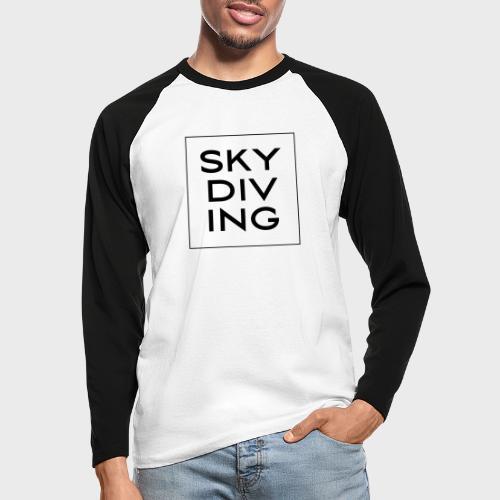 SKY DIV ING Black - Männer Baseballshirt langarm