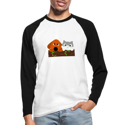 Hund & Katz - Männer Baseballshirt langarm