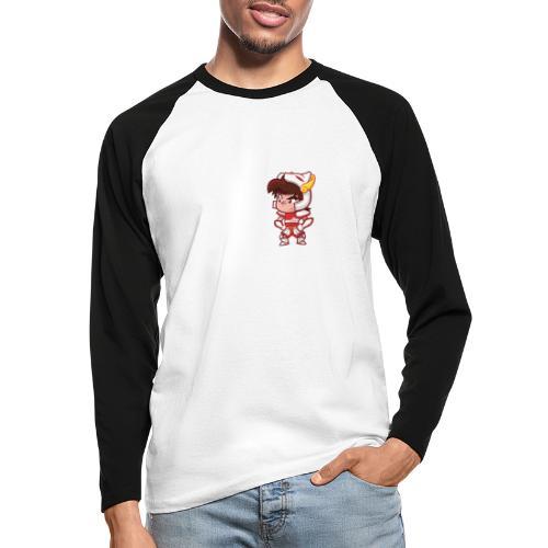 Seiya - Plaît-il ? (texte blanc) - T-shirt baseball manches longues Homme