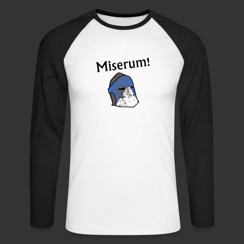 Warden Cytat Miserum! - Koszulka męska bejsbolowa z długim rękawem