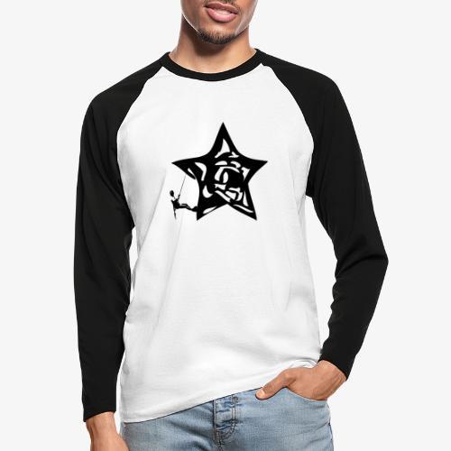 Rapel desde estrella - Star Rappel - Climb - Men's Long Sleeve Baseball T-Shirt