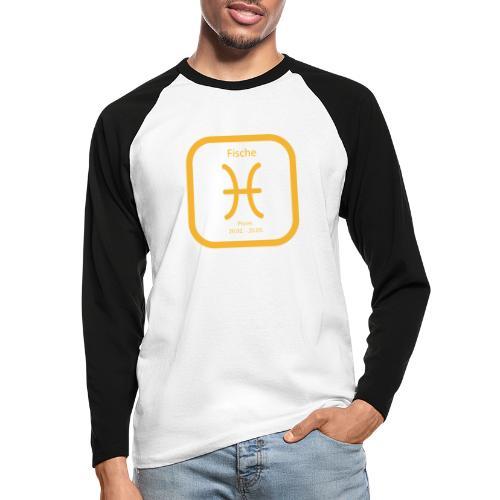 Horoskop Fische12 - Männer Baseballshirt langarm