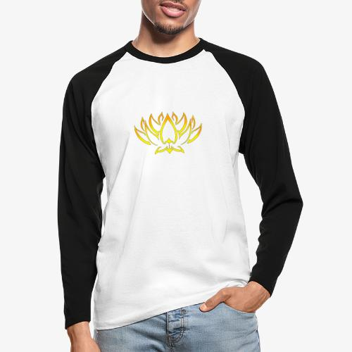 Lotus tribal Or - T-shirt baseball manches longues Homme