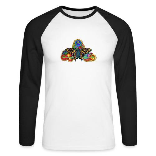 Happy Butterfly! - Männer Baseballshirt langarm