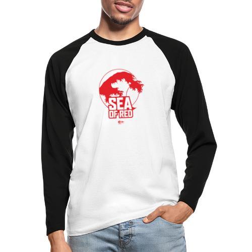 Sea of red logo - red - Men's Long Sleeve Baseball T-Shirt