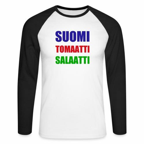 SUOMI SALAATTI tomater - Langermet baseball-skjorte for menn