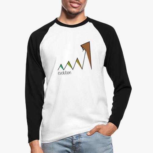evolution - Men's Long Sleeve Baseball T-Shirt