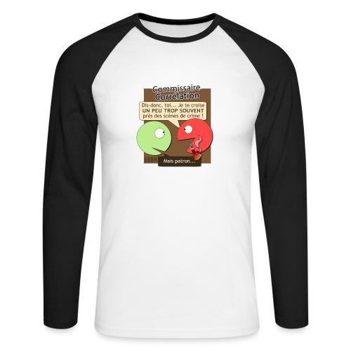 Commissaire Corrélation - T-shirt baseball manches longues Homme