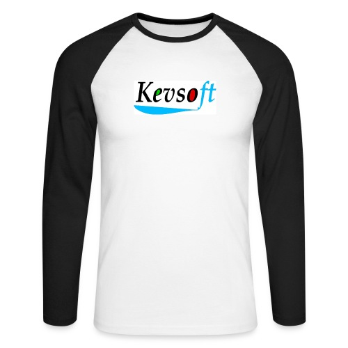 Kevsoft - Men's Long Sleeve Baseball T-Shirt