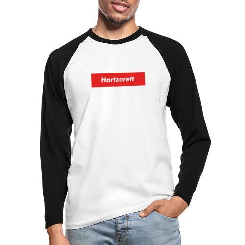 Hartzarett Boxed Logo - Männer Baseballshirt langarm