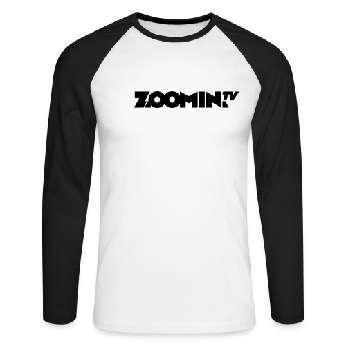 4658 2CZoomin BW logo - Men's Long Sleeve Baseball T-Shirt